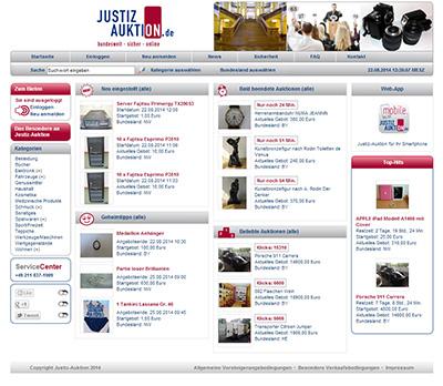 Justiz-Auktion Screenshot