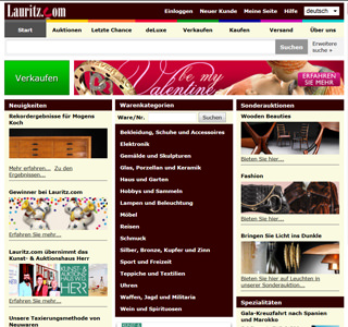 lauritz.com Screenshot