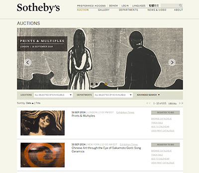 Sotheby's Screenshot